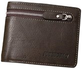 Tonsee Men's Zipper Leather Bifold Wallet