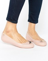 Melissa Nude Matte Orb Space Love Flat Shoes