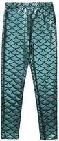 Frogwill Little Girls Mermaid Scale Leggings Fish Pants 3-11 Years