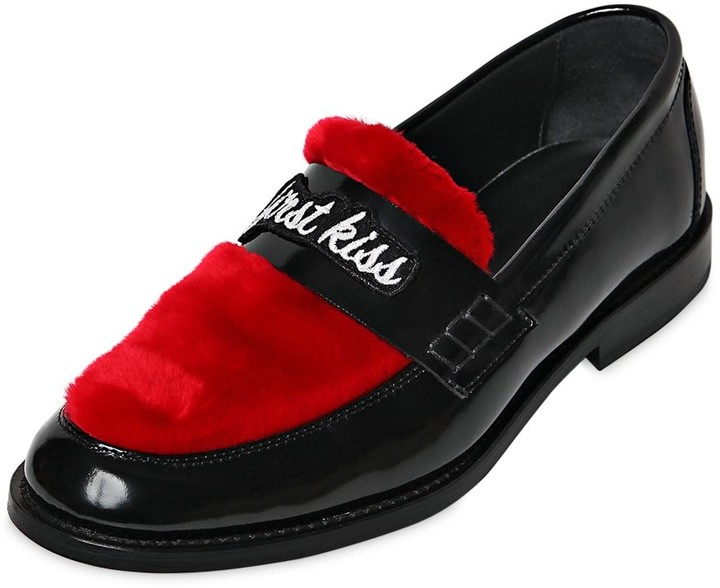 Thumbnail for your product : Joshua Sanders 20mm Last Dance Leather Loafers
