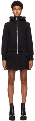 Sacai Black Sponge Short Hooded Dress