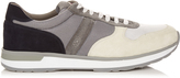 Moncler Low-top suede trainers