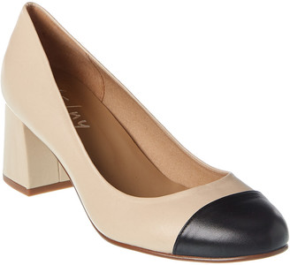 French Sole Tourist Leather Pump