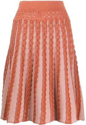Pinko Knitted Flared Skirt