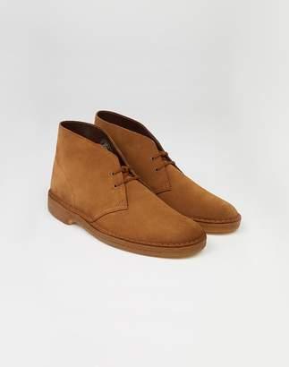 Clarks Suede Desert Boot Cola Brown