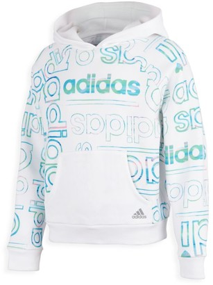 adidas Girl's Logo All-Over Fleece Hoodie