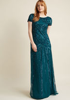 Adrianna Papell Sequined Vision Maxi Dress in 2
