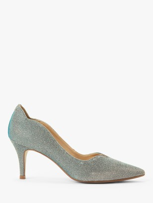 John Lewis & Partners Allina Scalloped Stiletto Heel Court Shoes, Gold