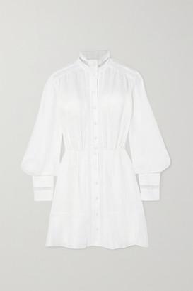 Raquel Diniz Marella Crochet-trimmed Linen Mini Dress - Off-white