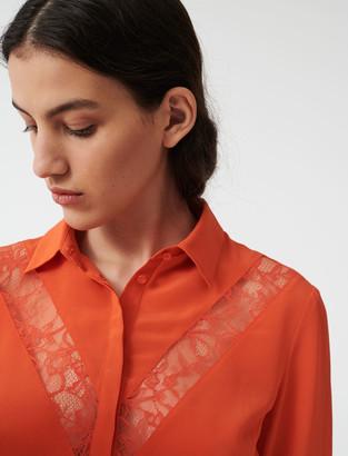 Maje Shirt with lace inserts
