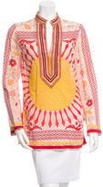 Tory Burch Bead-Accented Floral Tunic