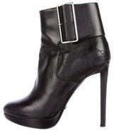 Christian Dior Leather Cannage Ankle Boots
