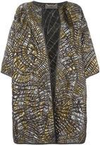 Alberta Ferretti quilted metallic coat