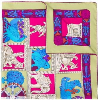 Hermes 2000s pre-owned Torana print scarf