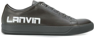 Lanvin logo print low top sneakers