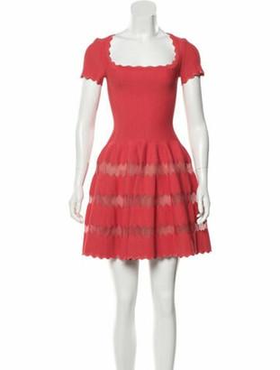 Alaia Square Neckline Mini Dress w/ Tags Pink