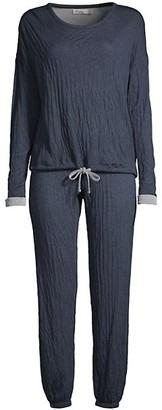 Barefoot Dreams The Malibu 2-Piece Crinkle Jersey Sweatshirt & Sweatpants Set