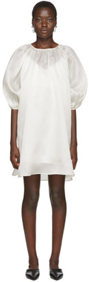 Arch The SSENSE Exclusive Off-White Silk Balloon Dress