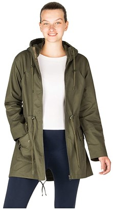 Modern Eternity Lara Military Maternity Coat (Khaki) Women's Clothing