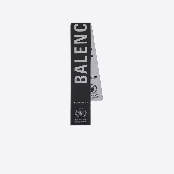 Balenciaga Wool scarf with Supports World Food Programme logo