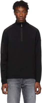 Canada Goose Black Stormont Quarter Zip Sweater