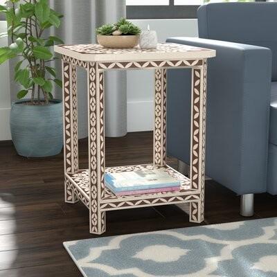 Dakota Fields Bone Inlay End Table Shopstyle