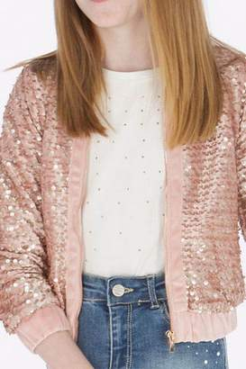 Mayoral Pink Sequin Jacket
