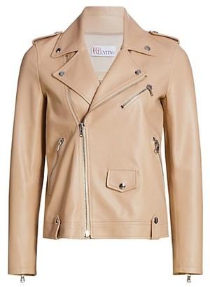 RED Valentino Soft Leather Moto Jacket