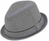 Peter Grimm Men's Duke Fedora Hat w/ Striped Brim Size XXL