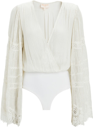 Rococo Sand Zuri Lurex Chiffon Bodysuit