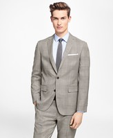 Brooks Brothers Plaid Stretch-Wool Suit Jacket
