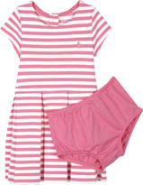 Ralph Lauren Striped cotton-blend dress and under shorts 3-24 months