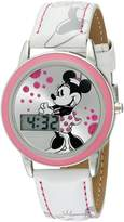 Disney Girl's Minnie Mouse Digital Sunray Dial Strap Watch MN1022