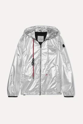Moncler Hooded Metallic Shell Jacket - Silver