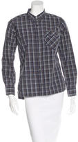 Billy Reid Plaid Button-Up Top