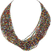 One Kings Lane Vintage Multicolored Beaded Nagaland Necklace