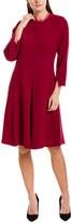 Teri Jon By Rickie Freeman Wool A-Line Dress