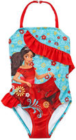 Disney Girls Elena of Avalor Solid One Piece Swimsuit-Big Kid