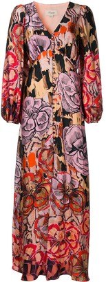 Temperley London Missy-print button-up dress