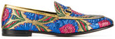 Gucci floral jacquard Jordaan loafers - women - Leather/Metallized Polyester - 36.5