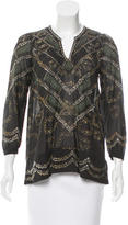 Etoile Isabel Marant Stud-Accented Printed Top