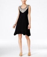 Style&Co. Style & Co Crochet-Trim Ruffled-Hem Dress, Only at Macy's