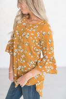 Ampersand Avenue Piper Floral Tunic - Mustard