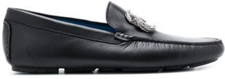 Roberto Cavalli Snake Embellishment Loafers