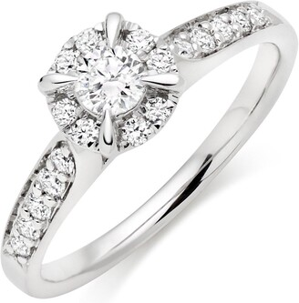 Beaverbrooks Platinum Diamond Halo Ring