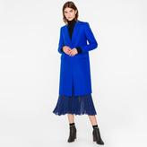 Paul Smith Women's Cobalt Blue Wool-Cashmere Epsom Coat