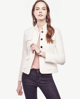 Ann Taylor Patch Pocket Twill Jacket