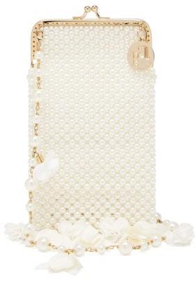 Rosantica Calendula Faux-pearl Shoulder Bag - White