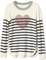 Gap Embellished heart crew sweater