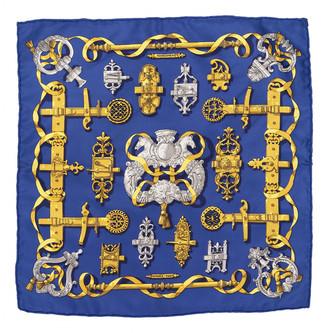 Hermã ̈S HermAs Navy Silk Scarves